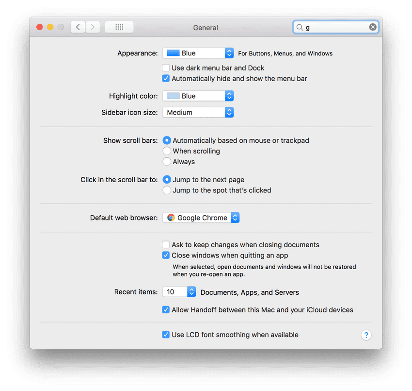 Enable automatic show and hide menu bar inside Mac Preferences > General