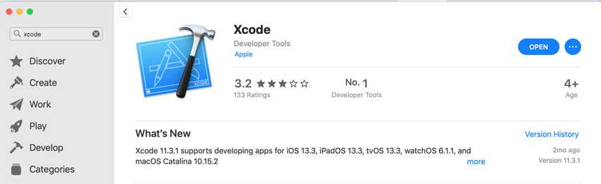 Install Xcode from App Store