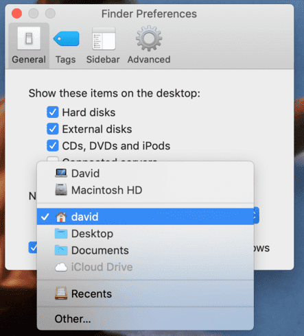 Mac Finder Preferences Set Default Folder